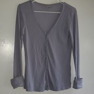 Lilac - •VS• | Waffle-Knit Thermal Button-Up Tee